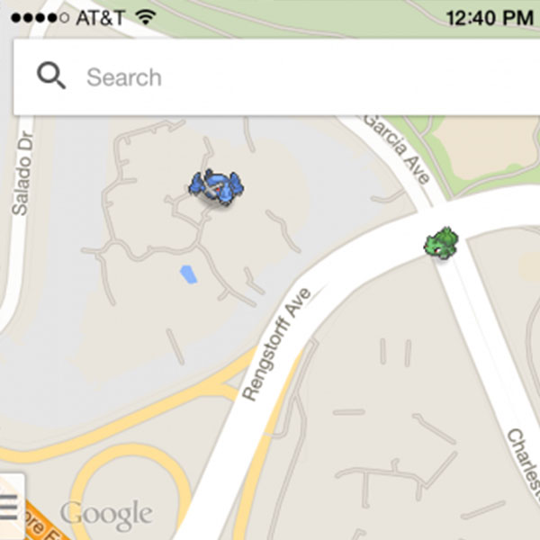 how to play catch pokemon on google maps
