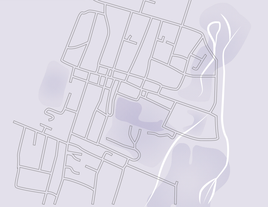 an illustrated map of winchester in the WFW branding