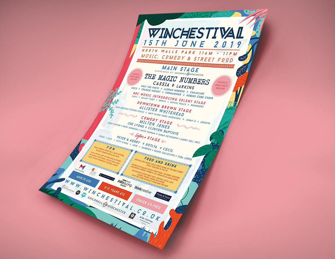 The line up poster for the festival