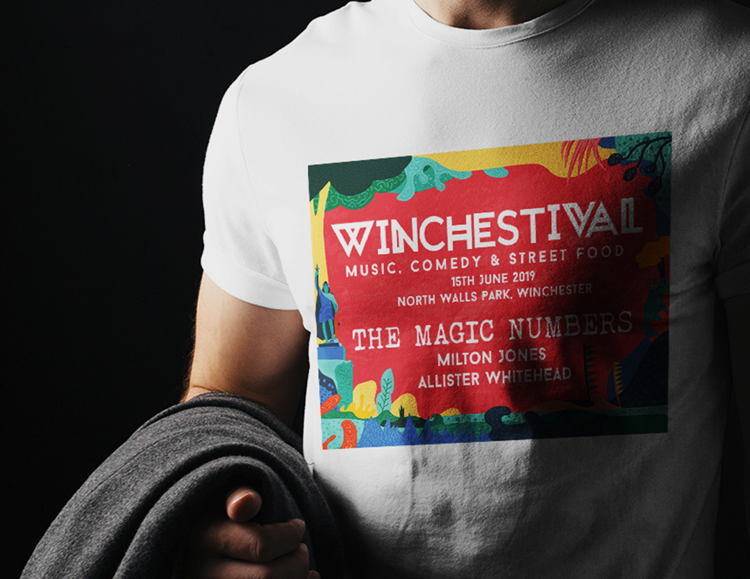 The tshirt design of winchestival