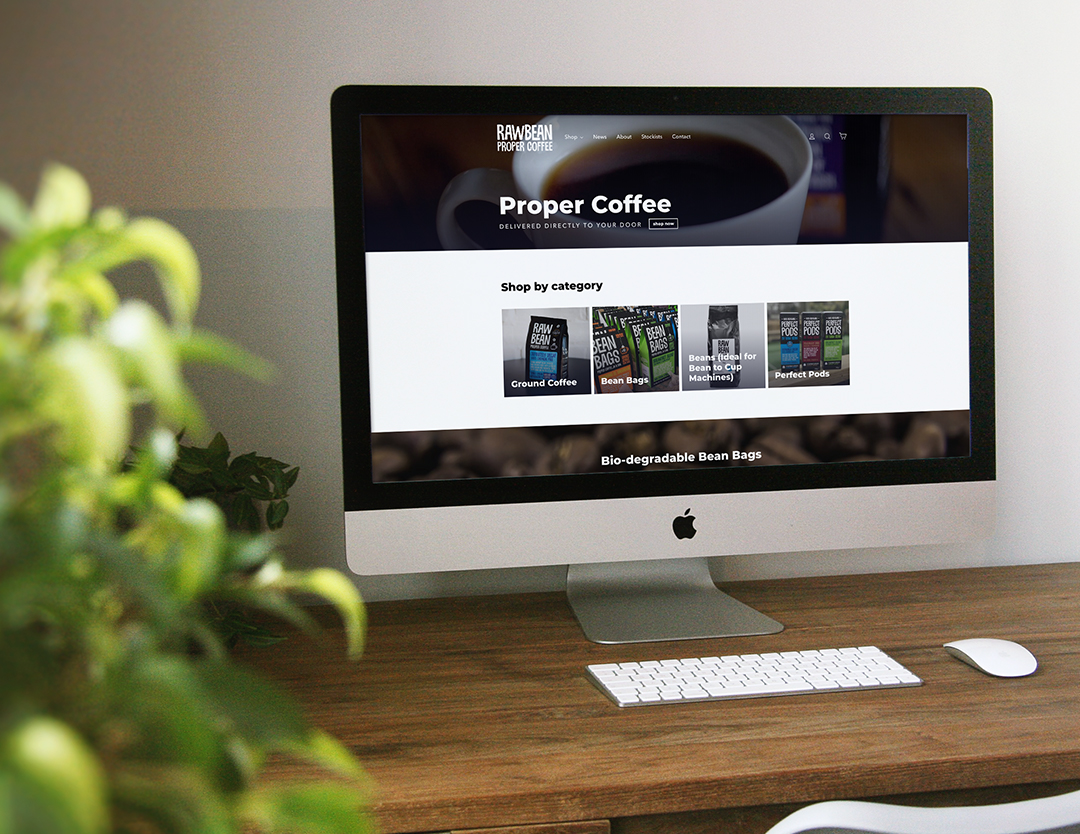 A iMac showcasing the homepage