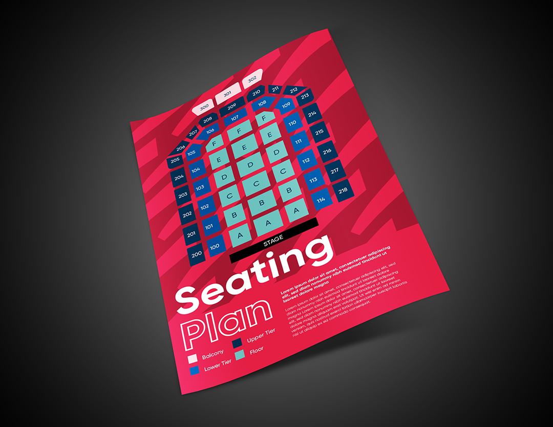 Seating Plan Mockup