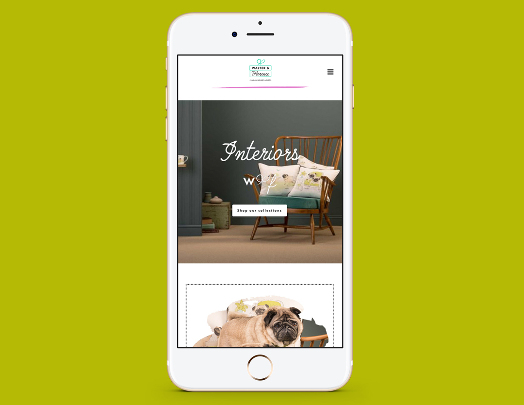 The Walter & Florence website on a smartphone